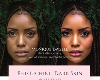 Photo Retouching Dark Skin
