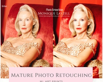 Retouching Editing A Mature Face photo retouching