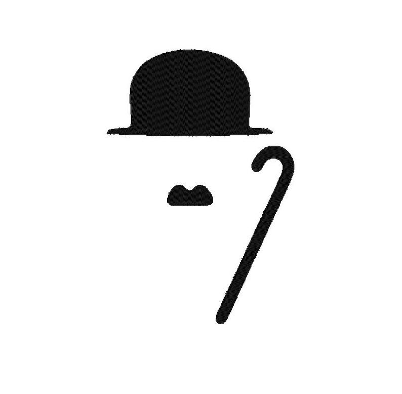 Charlie Chaplin llenar 6 tamaños estilo bigote bigote y  8312e4bd09c