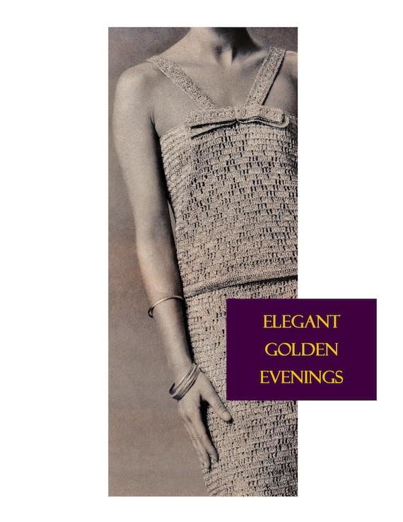 Digital Download 60s Elegant Crocheted Evening Dress Etsy