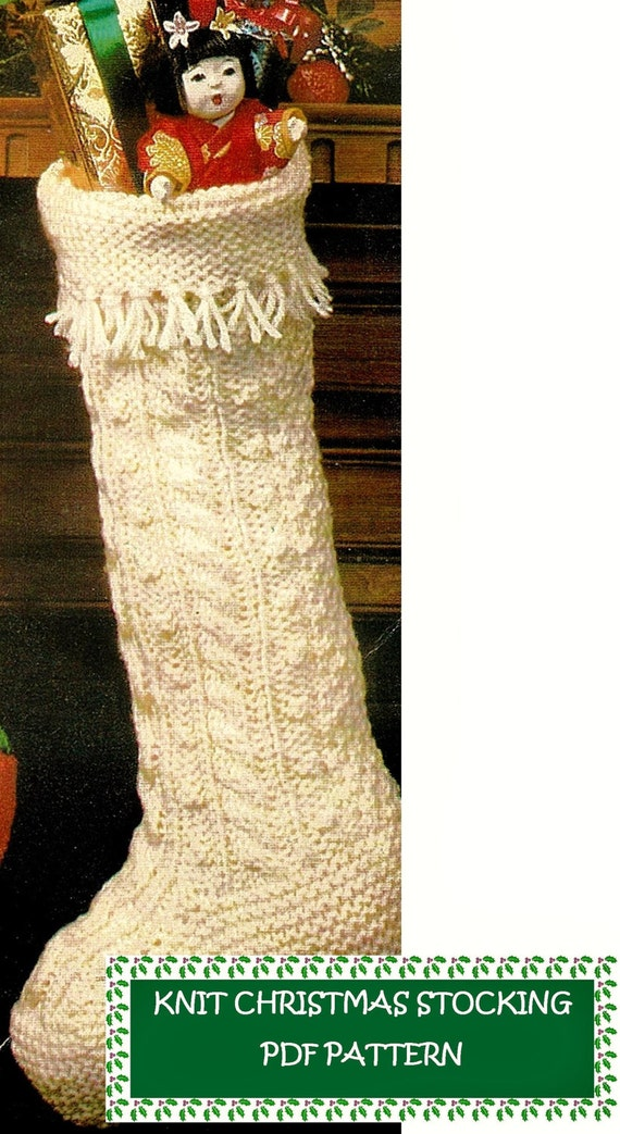 Digital Download Vintage Knitted Christmas Stocking Pattern | Etsy