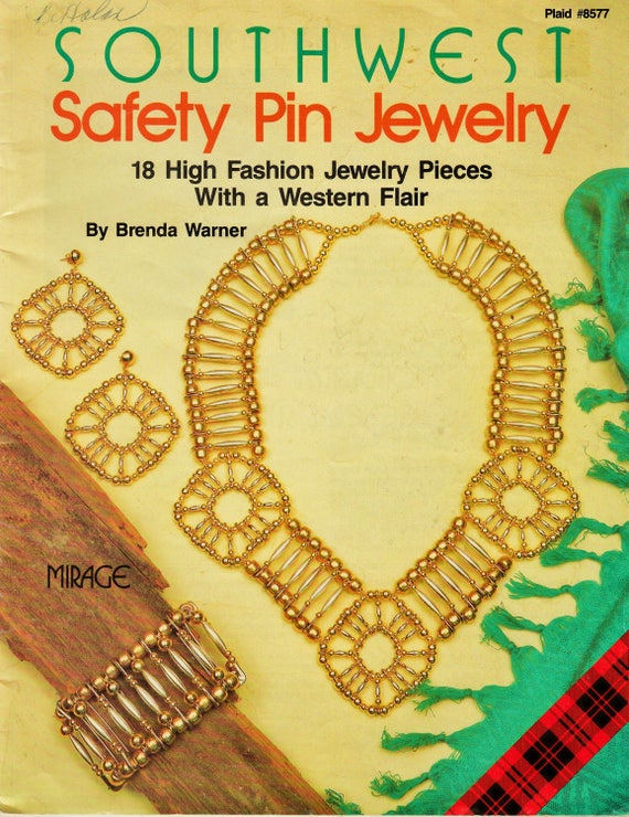 1991 Rare Southwest Safety Pin Jewelry Book By Brenda Warner Etsy
