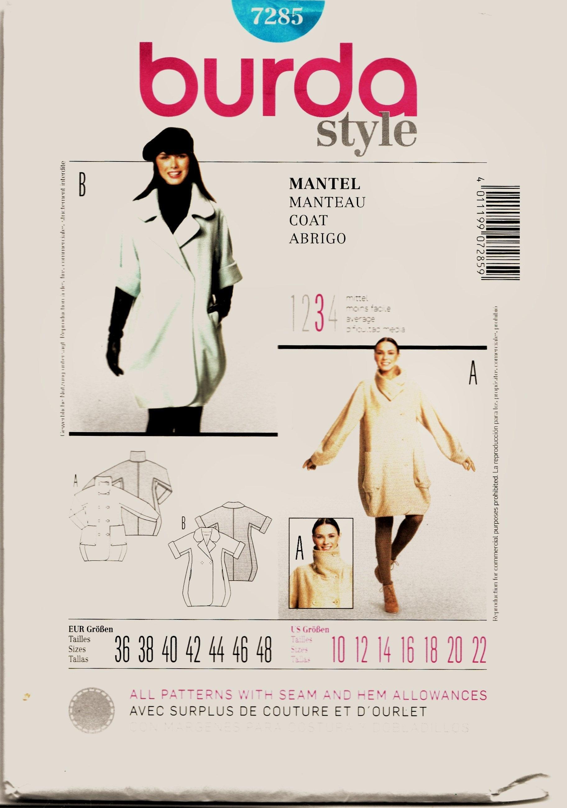 Burda-6814 Burda Mens Sewing Pattern 6814 Shirts with Pockets