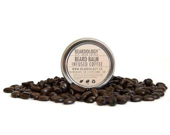 Coffee Infused  -  All Natural Beard Balm  -  1oz.
