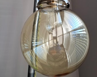 """8"""" Clear Glass Globe, 4 inch fitter size - Pendant lamp shade. Top Quality Supplies For Your Handmade Lighting, Lamps, Pendants etc"""