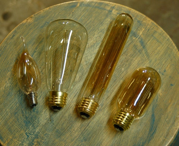 Edison Style Light Bulb Smoked Glass 12.5 Watts Vintage Flame Tip Candelabra