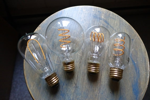 LED Edison Bulb G25 Dimmable 4watt Curved Vintage Style Spiral Filament 40w