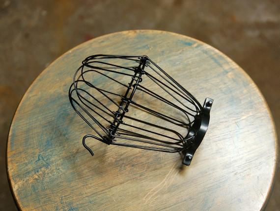 Schwarzer Draht-Birne-Käfig Klammer auf der Lampe Hut für | Etsy