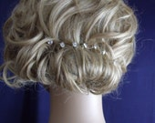 CRYSTAL  HAIR PINS Bridal hair design Wedding headpieces