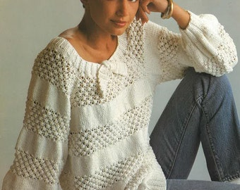 4516a6eacddb6 Womens Knitting Pattern Womens Sweater Jumper Womans Polo