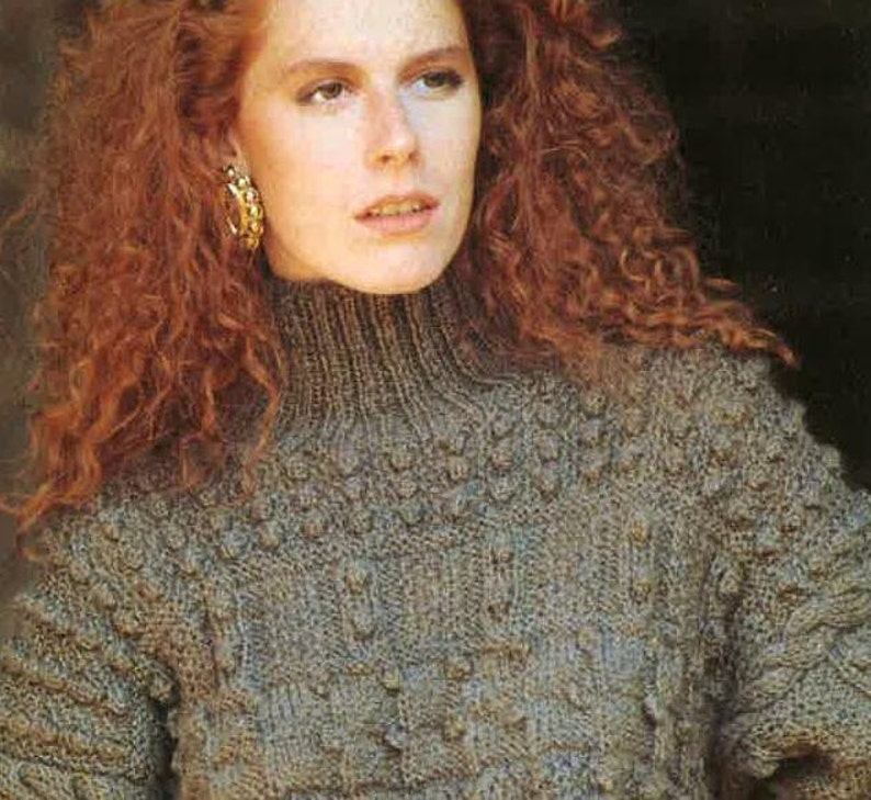 6f1b0f57c4657 Womens Knitting Pattern Womens Aran Sweater Jumper 32-36inch