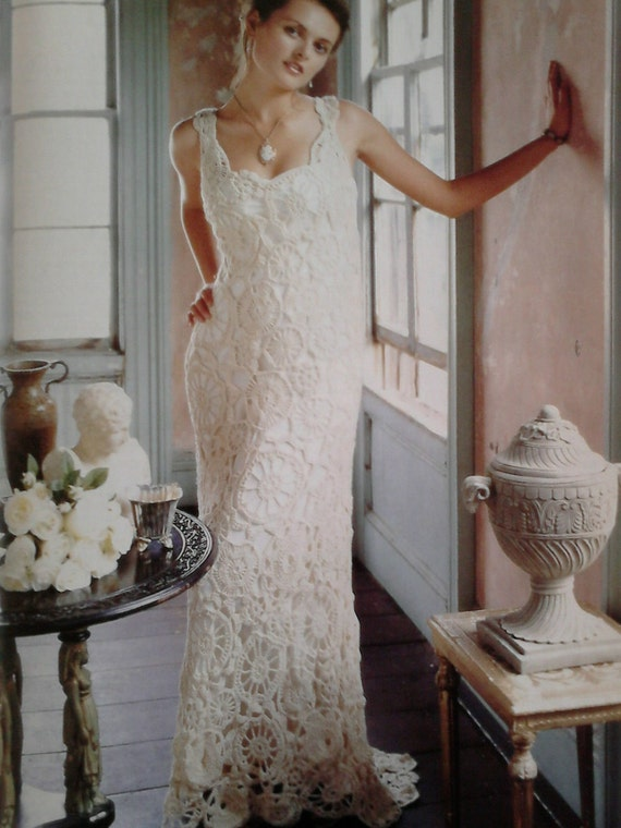 Vintage Crochet Wedding Dress Pattern Pdf No 0002 Etsy