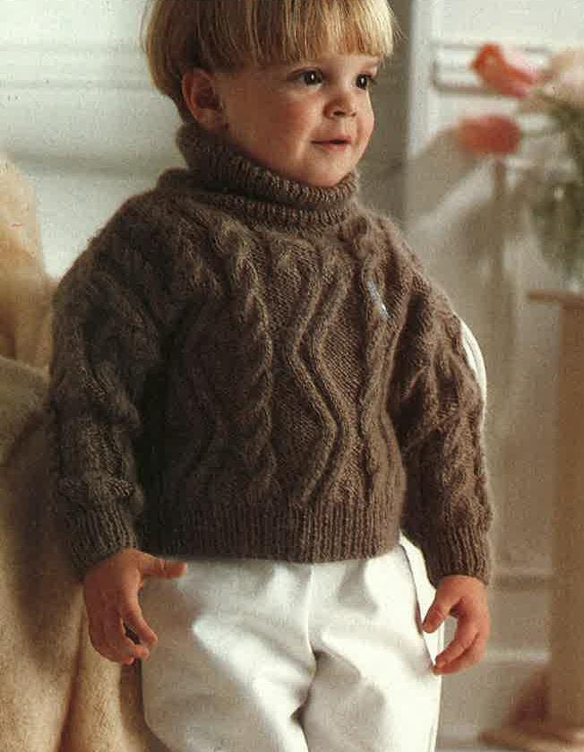 5aec4a03e01 Knitting Pattern Childrens Jumper, Polo Neck, Roll Neck Sweater, Size 22in  -24in Yarn DK Double Knit Pattern PDF No.0397