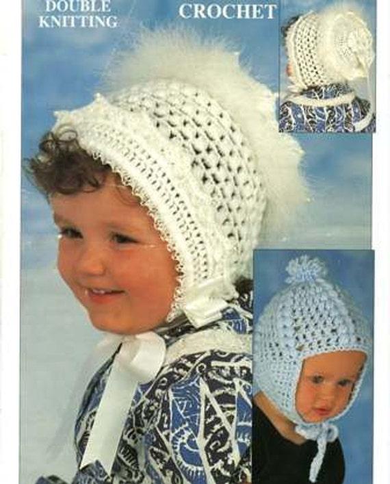 Häkeln Muster Babys Bonnet Hut Helm Cap 3 Monate 2 Jahre | Etsy