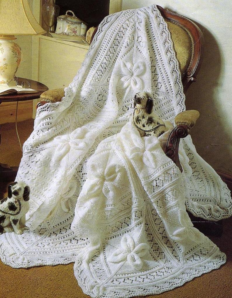 Knitting Pattern Babies White Shawl Babies Blanket Pattern Etsy