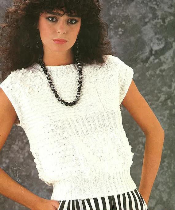 Damen-Sommer-Pullover stricken Muster PDF Nr. 0549 TimelessOne