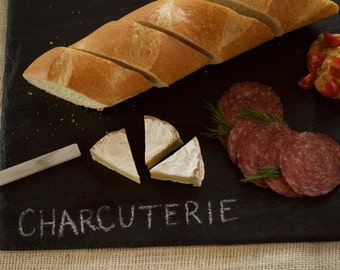 """Slate Cheese Board - 4 sizes available, 6"""" x 12"""" to 12"""" x 24"""" comes with one soapstone chalk"""