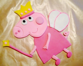 Fairy Peppa Pig Cake Topper
