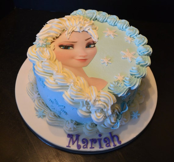 Elsa or Anna Frozen Cake Decorating Kit | Etsy