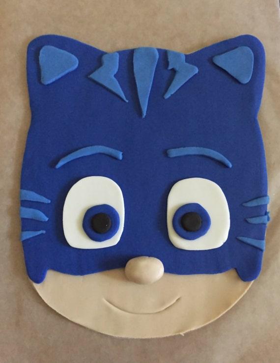 Pj Masks Inspired Cake Topper Catboy Etsy