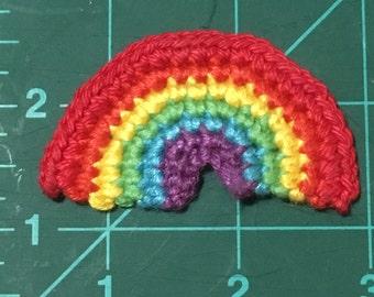 Mini rainbow -  crochet photo prop