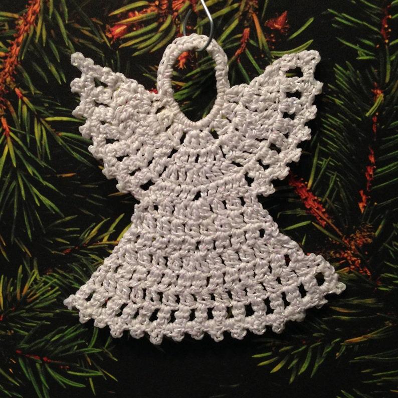 Beautiful Crochet Angel Ornament Holiday Ornament Etsy