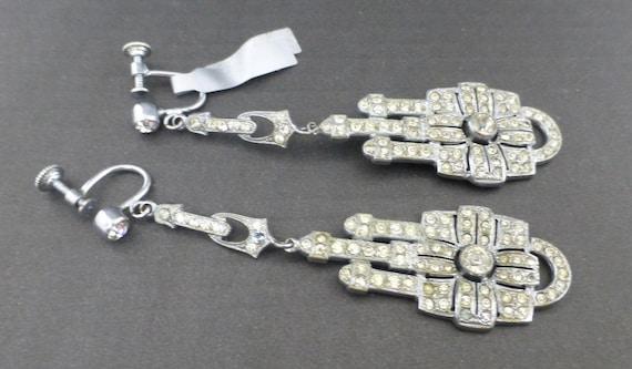 Art Deco Long Drop Earrings