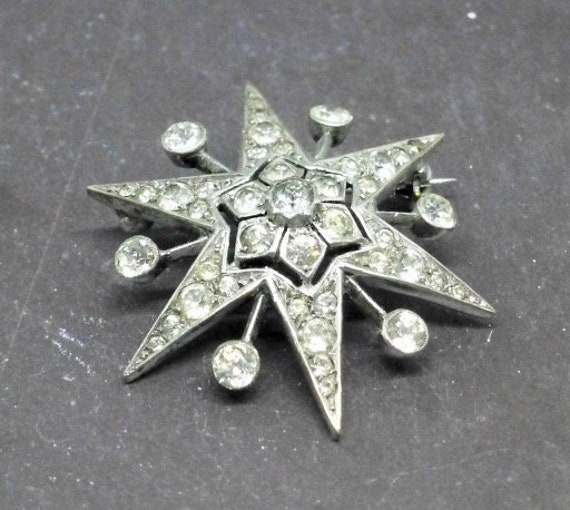 Silver and Paste Star Pin