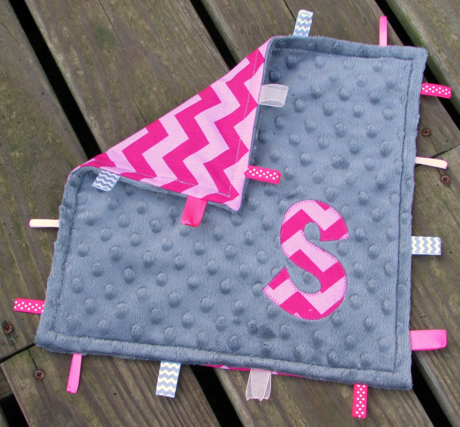 K State Block Tag and Crinkle Square