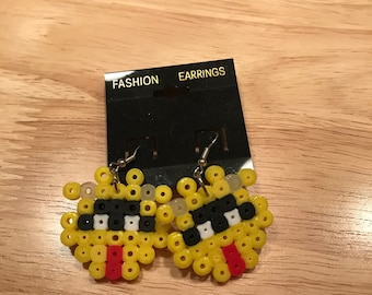 Dr. Mario Virus Perler earrings