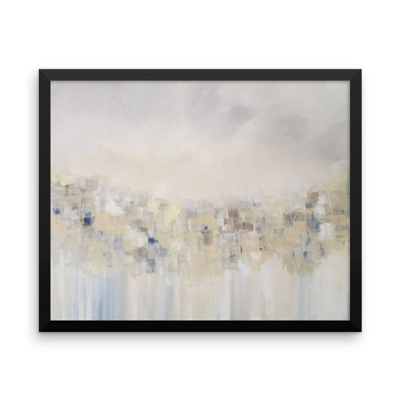a7364ffa4ee Neutral Abstract Modern Art Painting Framed Print Poster Grey