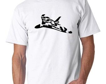 Avro Vulcan  - 100% Cotton Mens T-shirt S M L XL XXL Fathers Day Plane Aviation Aircraft XH558 Birthday Christmas
