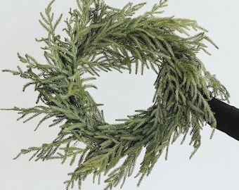"""Real Touch Norfolk Pine Wreath - 24"""""""
