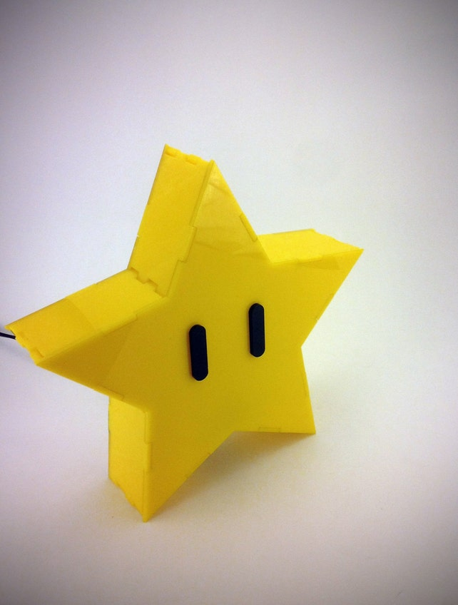 Super Mario Brothers Star Lamp Etsy