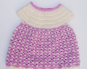 Circular yoke and lace baby dress crochet pattern. 0 to 24 motnhs. Baby girl dress pattern // ARIEL baby dress crochet pattern _ M50