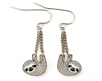 31dfc3bbd Sloth Earrings, Sloth Jewelry, Sloth Jewellery, Sloth Gifts, Dangle Earrings,  Animal Earrings, Animal Jewelry, Shrink Plastic