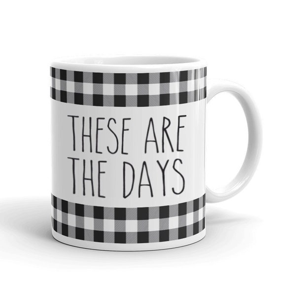 These Are The Days Coffee Lover Gift Coffee New Mom Gift Etsy