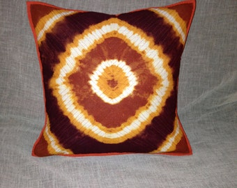 """1960s Psychedelic Decorative 16"""" Pillow Cover Tie Die"""