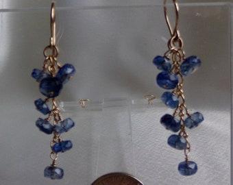 Kyanite  gold filled dangle earrings item 985