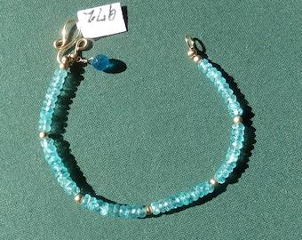 Apatite bracelet 14k gold filled  item 972