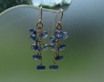Kyanite  gold filled dangle earrings item 983