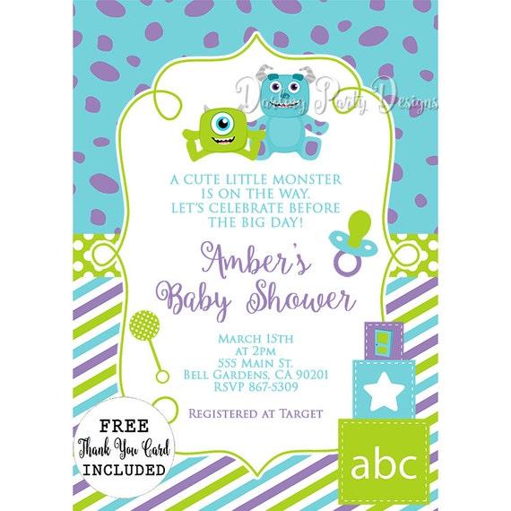 Monsters inc baby shower invitations etsy image 0 filmwisefo
