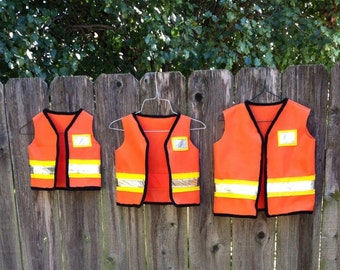 construction worker costume toddler, toddler construction vest, kids construction vest, halloween costume toddler dress up, pretend play