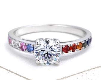 Lgbt Pride Jewelry Gay And Lesbian Wedding Rings Von Equalli