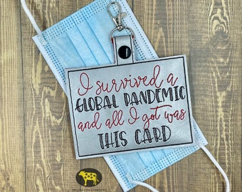I survived Vaccination Card Holders  5x7 hoop size- DIGITAL Embroidery design