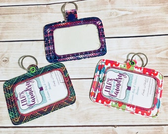 ITH ID horizontal holder or Luggage tag 5x7 included- Embroidery Design - DIGITAL Embroidery design