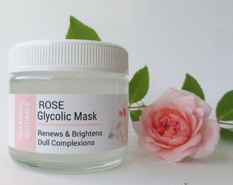 Refining Glycolic Mask, Rose Facial Mask, AHA Face Mask