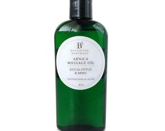 Arnica Sore Muscle Oil, Eucalyptus & Mint  Massage Oil