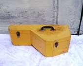 Chain saw box, toll box, storage box, mid century, 50s 60s, hand made, gift for him, rustic distressed, man cave decor
