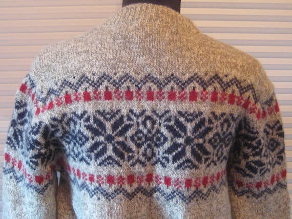 Vintage wool sweater, LL Bean, thick heavy wool p… - image 7